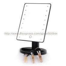 Профессиональный Smart Touch Сенсор 16 LED Макияж зеркало столик на одной стороне косметическое зеркало и 10 шт./лот DHL/FedEx/ EMS
