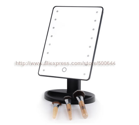 Professional Smart Touch Sensor 16 LED Makeup Mirror Table Single Side Cosmetic Mirror & 10PCS/Lot DHL/FEDEX/EMS Free Shipping