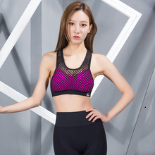 New High Quality Women Yoga Shirts Sleeveless Sexy Mesh Hollow Out Sports Bra Running Tights Fitness Yoga Tank Tops Underwear