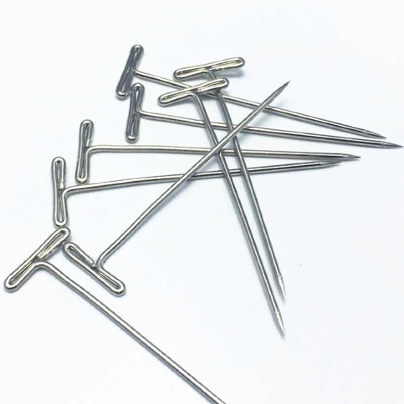 T Pins Type Needle Head Style Brazilian Indian Mannequin Head Sewing Hair Salon Styling Tools For Wig On Foam 100pcs/lot