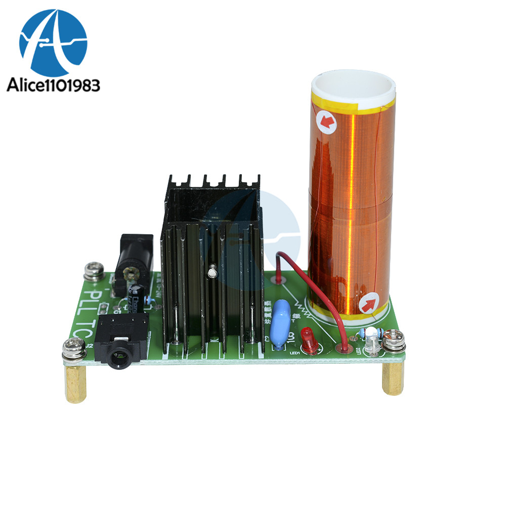 Mini Wireless Music Musical Coil Loud Speaker Tesla Power Magic Board Diy Kit Toy Jx03 Module Under 20v Heat Sink Fan Active Components