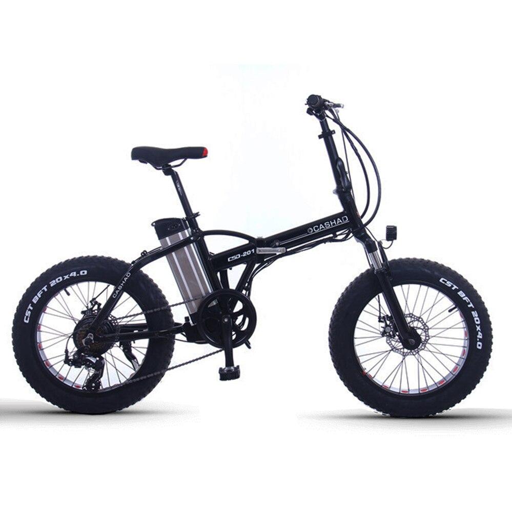 20 polegada Neve gordura e moto-48 V de lítio bicicleta elétrica dobrável bateria 350 w-500 W alta velocidade do motor da roda traseira mountian elétrico b