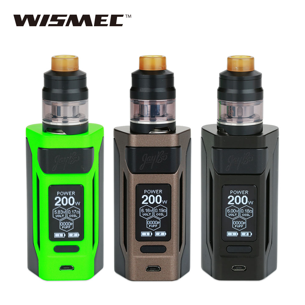 Original WISMEC Reuleaux RX2 TC Kit with 2ml/4ml Gnome Tank & 20700 Battery 200W Max Output Huge Power Reuleaux RX2 Kit Vape Kit 2017 new fashion men slim fit stretch biker jeans patchwork elastic white jeans pants for motorcycle famous brand size 28 to 38