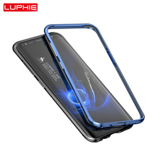 Luphie Bumper for samsung galaxy s8 case Case cover Luxury metal aluminum frame with soft inside for samsung galaxy s8 plus case