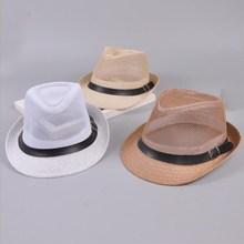 Hombres verano Playa Sol sombrero de paja del Jazz Panamá Casual masculino  Fedora marca moda mujer sombrero para los hombres vis. c137a434fc3