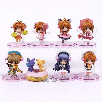 Anime cardcaptor Sakura pcv figurki zabawki breloki 8 sztuk/zestaw Kinomoto Sakura Daidouji Tomoyo Li Syaoran Kero
