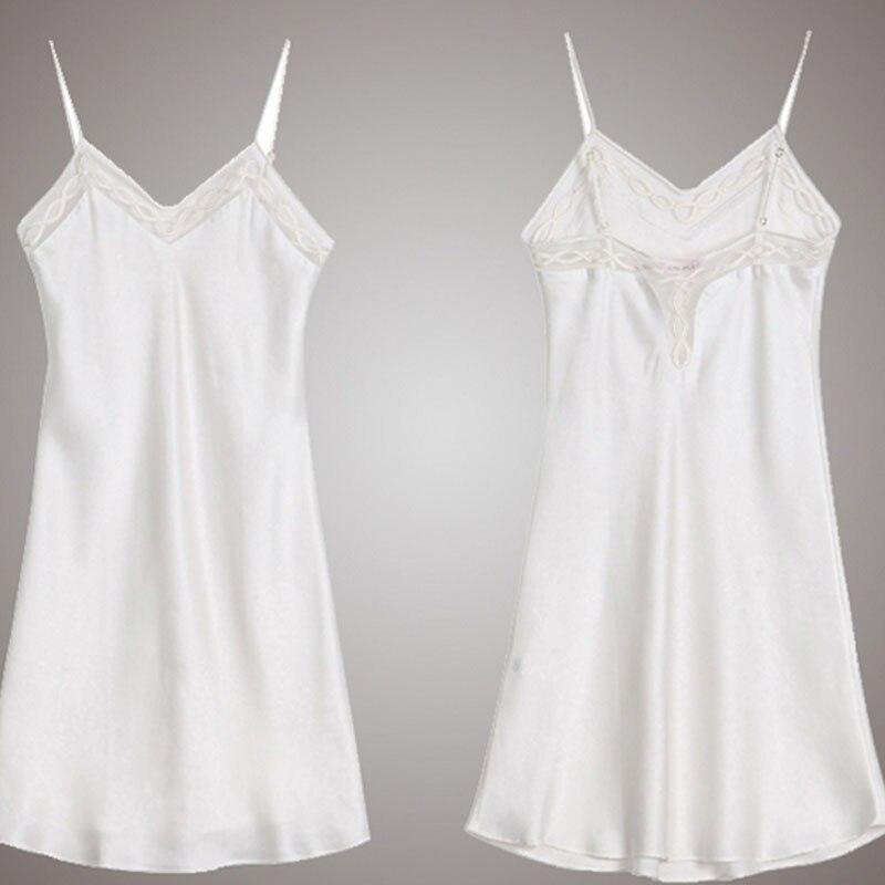 Zijde Satijn Nightgowns 100% Mullberry Zijden Vrouwen Zijden Nachtkleding Sexy Lingerie Jurk (Hand wassen alleen) - 3