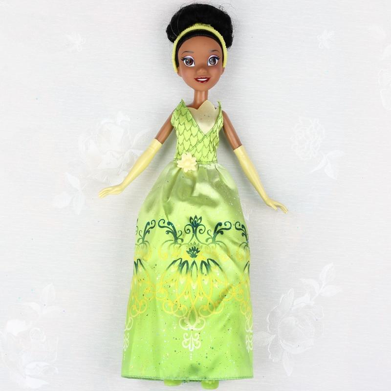 DISNEY Princess The Princess And The Frog Tiana Princess Doll Girls Toys Birthday Christmas Gift Toys For Children