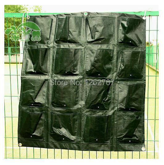 Függőleges kert Grow Táskák 16 Műanyag zsebek Ültetőház - Kerti termékek