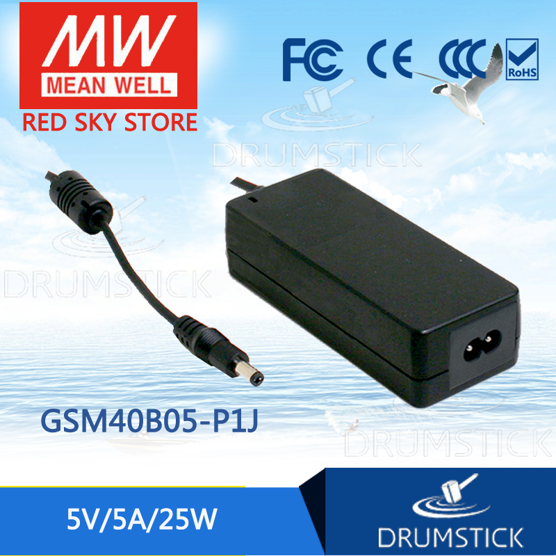 MEAN WELL GSM40B05-P1J 5V 5A meanwell GSM40B 5V 25W AC-DC High Reliability Medical Adaptor mean well gsm60b18 p1j 18v 3 33a meanwell gsm60b 18v 60w ac dc high reliability medical adaptor