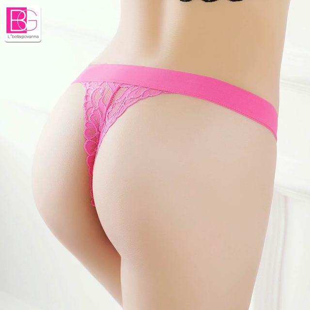 8022c63481 Sexy Bandage encaje Tanga mujeres ropa interior bajo cintura Sexy bragas  Cute arco encaje G-