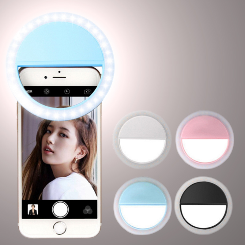 Selfie Ring Light Portable 36 LED Lamp For Selfie Flash Light Phone Camera Photography Enhancing For iPhone Samsung Phone Holder|Photographic Lighting| |  - title=