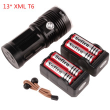 SF34-13*XML T6 Gift Set Powerful LED Flashlight 5000 Lumens Cree Ultra Bright Flashlight Portable Light 4*18650 Battery +Charger