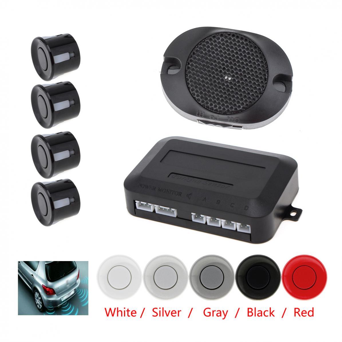 4 sensoren Universal Auto Parkplatz Sensor System mit Akustischer Alarm 12V Wasserdicht Zurück Auto Assistent