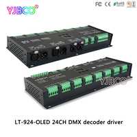 Светодиодный драйвер 924 O светодиодный; 24CH контроллер dmx; с функцией усилителя сигнала; DC12 24V вход; 3A * 24CH выход
