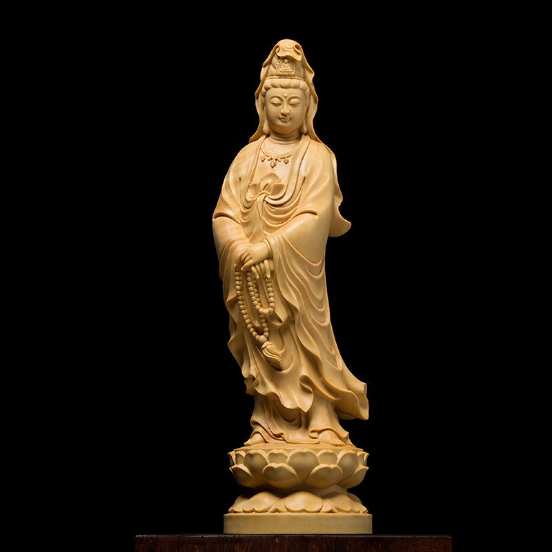 12cm chinese home decor wall sculpture Buddha statue Car wood buddha decor home god statue office