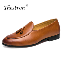 Thestron Spring Summer Men Leather Casual Shoes Comfortable Male Patent Leather Shoes Slip on Man Pointed Toe Footwear Loafers цены онлайн