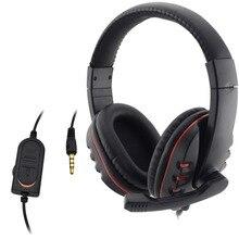 Caliente Nuevo Cable 3.5mm gaming Auriculares manos libres Micrófono Música Para PS4 PlayStation 4 Juego PC fone de Chat ouvido
