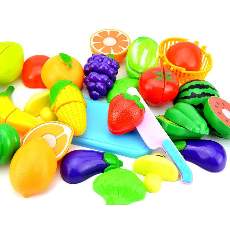 2018 New 23Pcs/Set Plastic Fruit Vegetables Cutting Toy Early Development Education Toy for Baby Kids 88