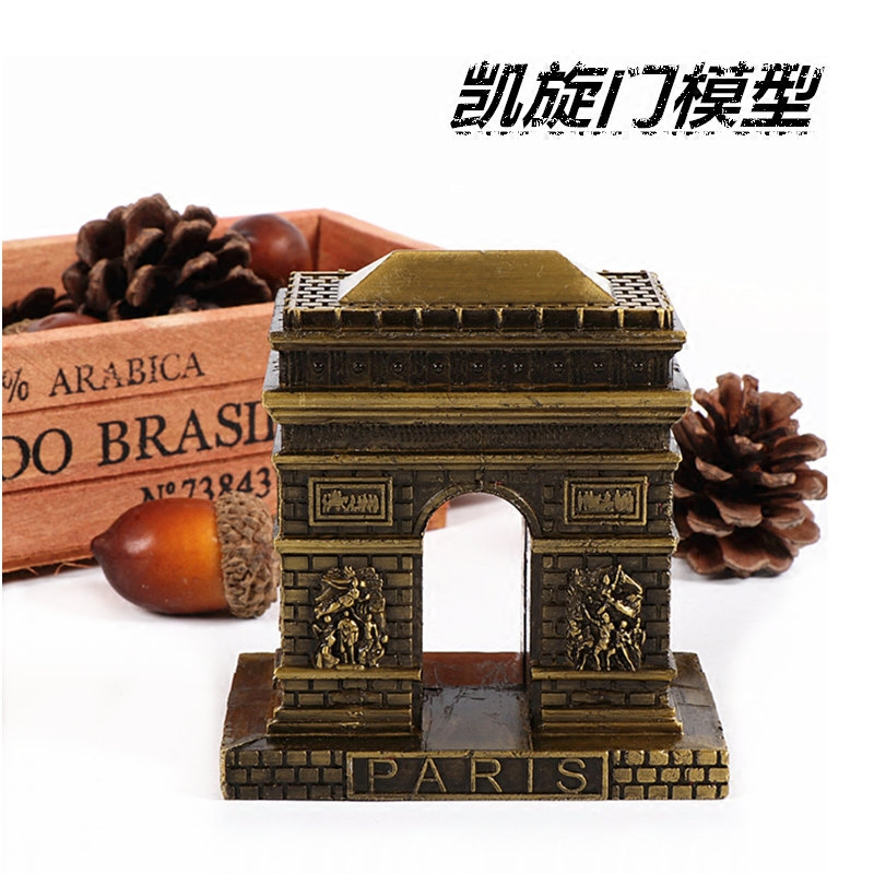 Paris Triumphal Arch miniature Model World Famous Landmark Building Architecture Home Office Decor Gift creative birthday gift