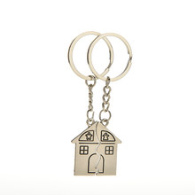 1 Pair car Key Chains Romantic House Keychain Personalized Souvenirs Lanyard Keyring Valentine's Day Love Key Fob Gift(China)