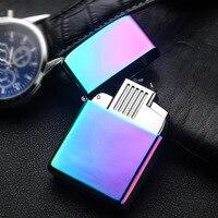 2017 New USB Lighter Electric Pulse Arc Cigarette Lighter Windproof Thunder Metal Cigarette Plasma Flameless Cigar