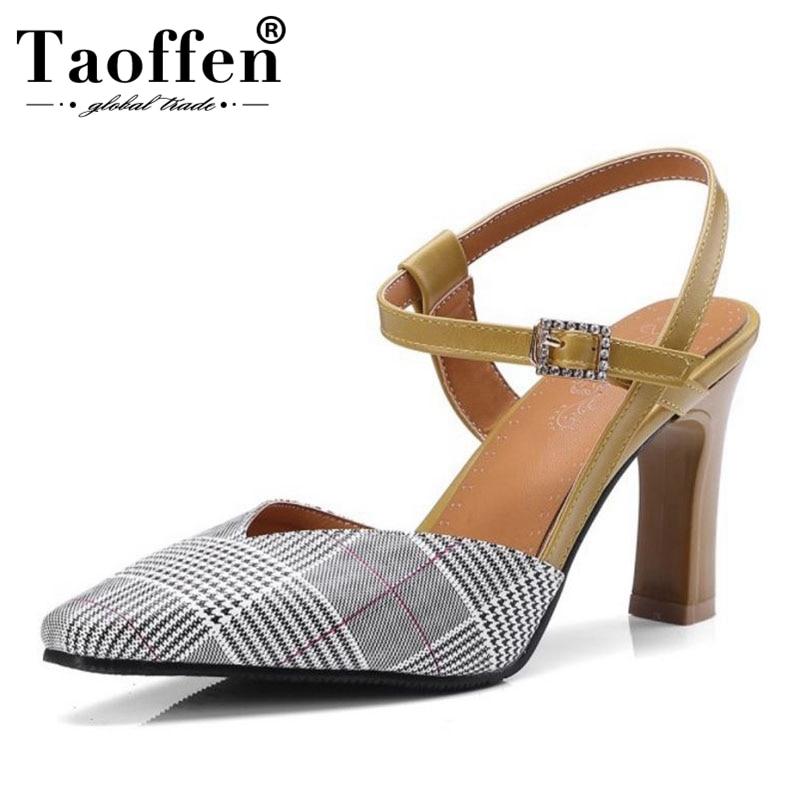 2358c493f0fe Taoffen-4-colores-talla-32-46-estilo-brit-nico-Oficina-de-se-ora-Sandalias -de-tac.jpg