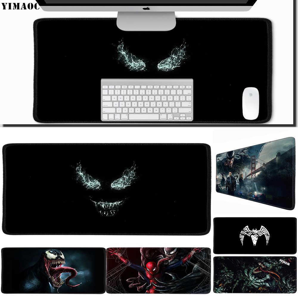 YIMAOC 30*60 cm Grande Mouse Pad Mousepad Gamer Gaming Mat Mesa com Borda de Travamento de Borracha Veneno Maravilha