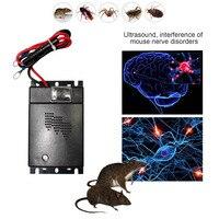 Behogar 12V 전자 자동차 트럭 초음파 해충 방제 Repeller 억제 안티 마우스 마우스 쥐 설치류 바퀴벌레