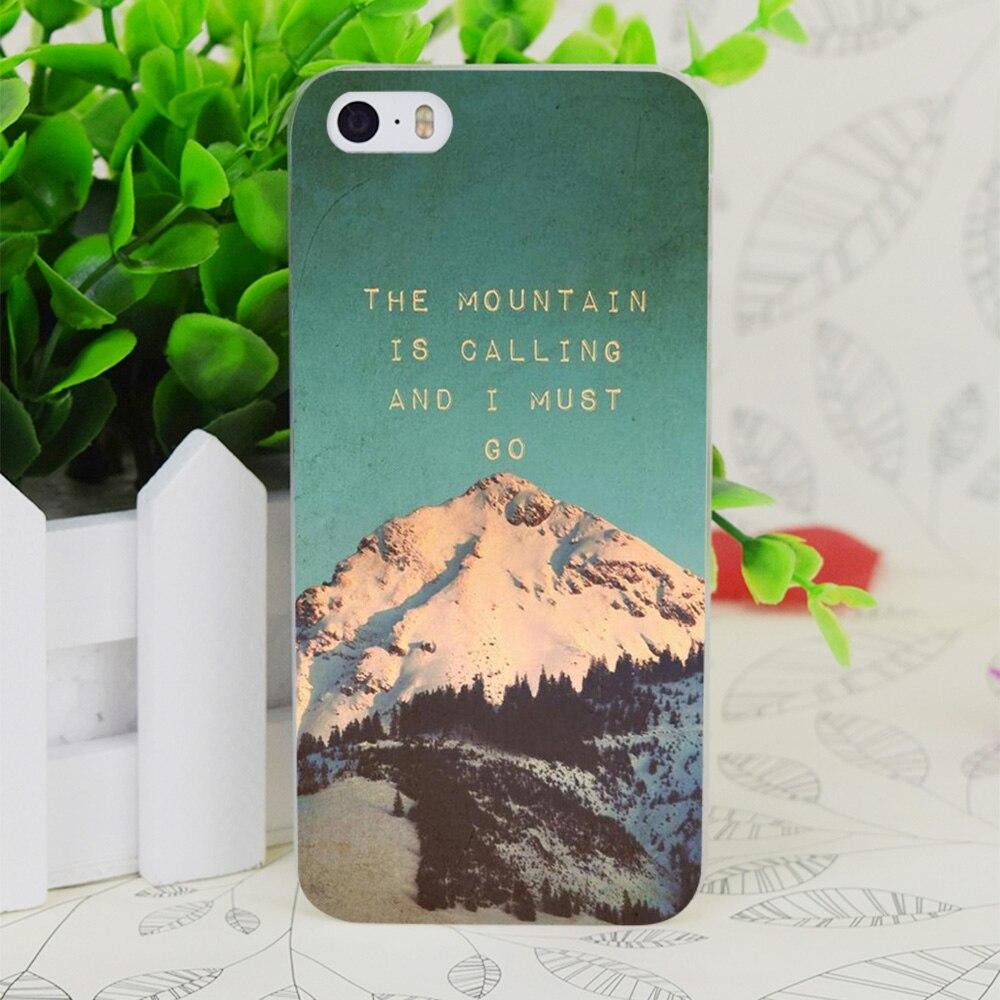 C0578 Mountain звонит прозрачный жесткий тонкий корпус кожного покрова для Apple IPhone 4 4S 4 г 5 5 г 5S SE 5C 6 6 S плюс
