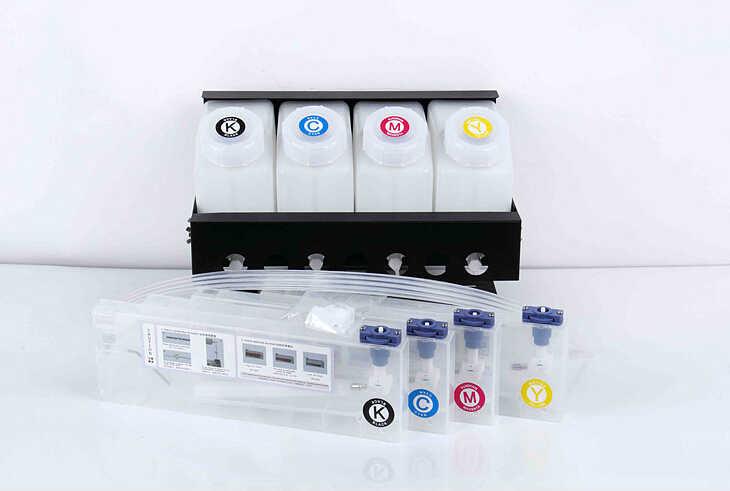 4 warna CISS sistem tinta untuk Roland/Mimaki/Mutoh printer format besar tinta massal sistem (4 tank + 4 cartridge)