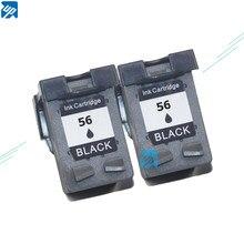 Фирменный 2шт чернильный картридж для hp 56 черный C6656A для hp DJ 450/450cbi/450ci/450wbt принтер бесплатная доставка