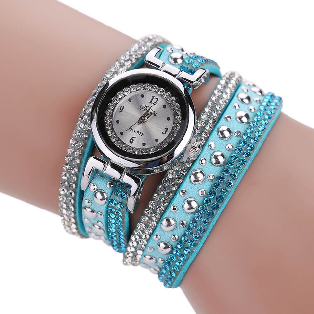 2018 Luxury Women Crystal Dress Bracelet Watch Ladies Quartz Wristwatch Women's watches Relogio  Feminino Montre Femme #D