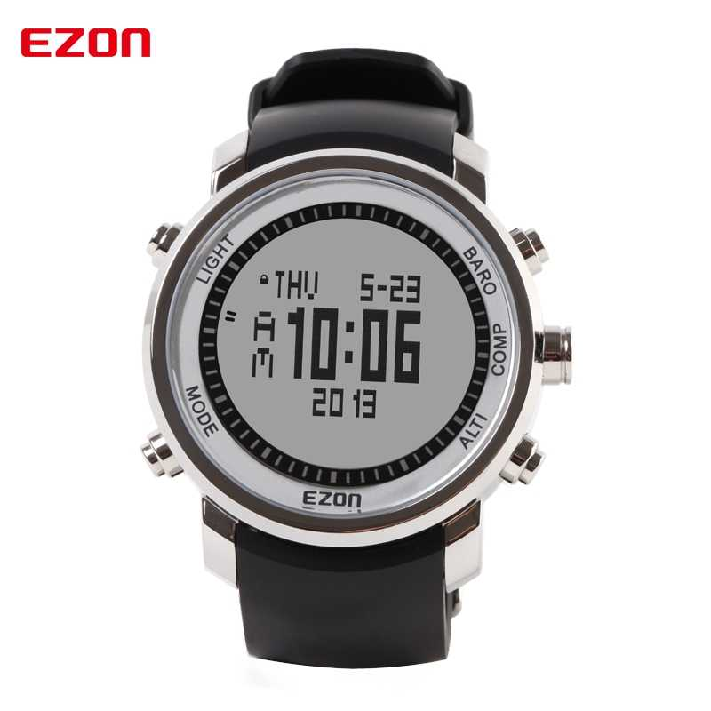 Top Brand EZON H506 Outdoor Hiking Mountain Climbing Sport Watch Men's Digital Watches Altimeter Compass Barometer