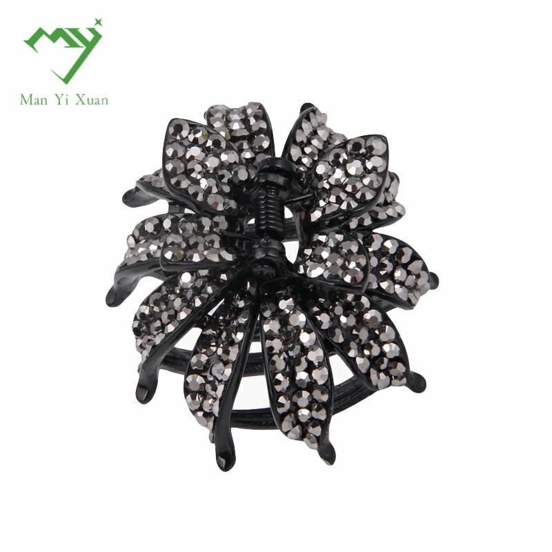 crystal Rhinestone hair claws for women headwear clips clamps Metal hair claws for women Hair Clip Crab Headwear Accessories
