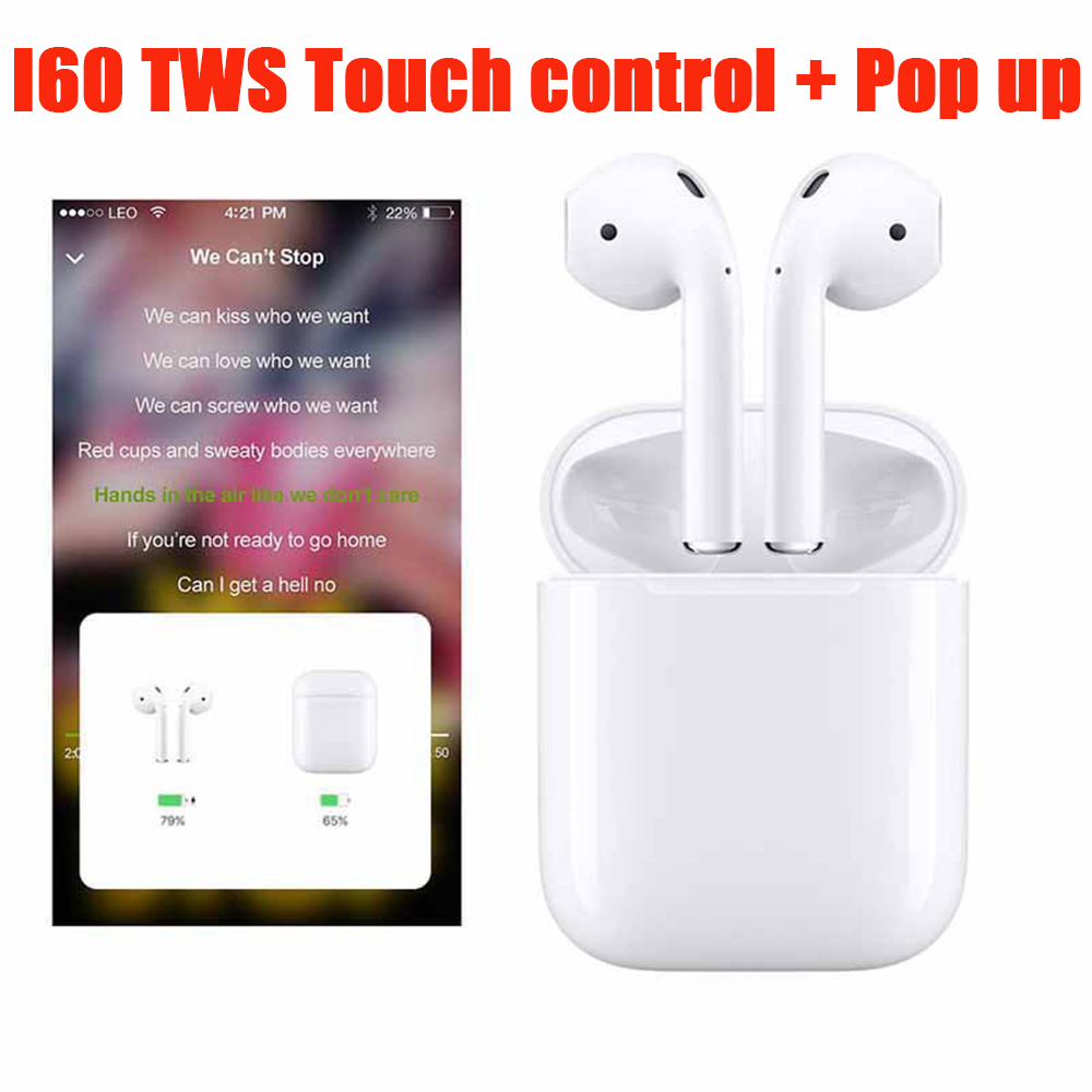 I60 TWS Pop up 1:1 recharge sans fil Bluetooth Écouteurs pk i10 i12 i13 i14 i18 i20 i30 i 10 12 13 14 18 20 30 60 i10tws i12tws