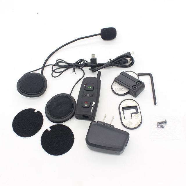 Dongzhen Motocicleta/Casco De Esquí Auriculares Bluetooth Auricular Inalámbrico de Intercomunicación 2 Piloto Dedicado Auriculares Intercomunicador Vnetphone