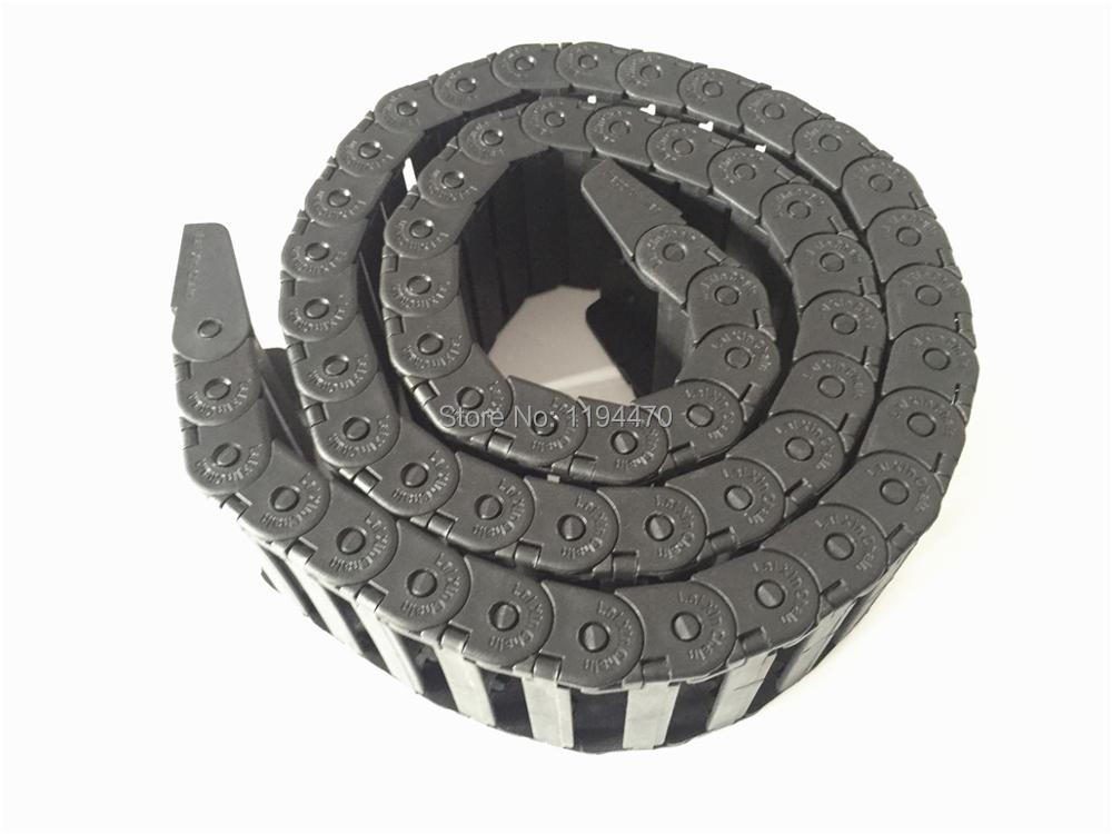 1pcs/Lot 15x50mm R28 Cable Drag Chain Wire Carrier with End Connector 15mm x 50mm L1000mm 40 for 3D CNC Router Machine 15mm x 40mm r28 plastic cable drag chain wire carrier with end connector length 1m for 3d printer cnc router machine tools