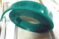 Fast Shipping Green 50mm 9mm 400mm Screen Printing Flat Squeegee Rubber Blade 65A Durometer