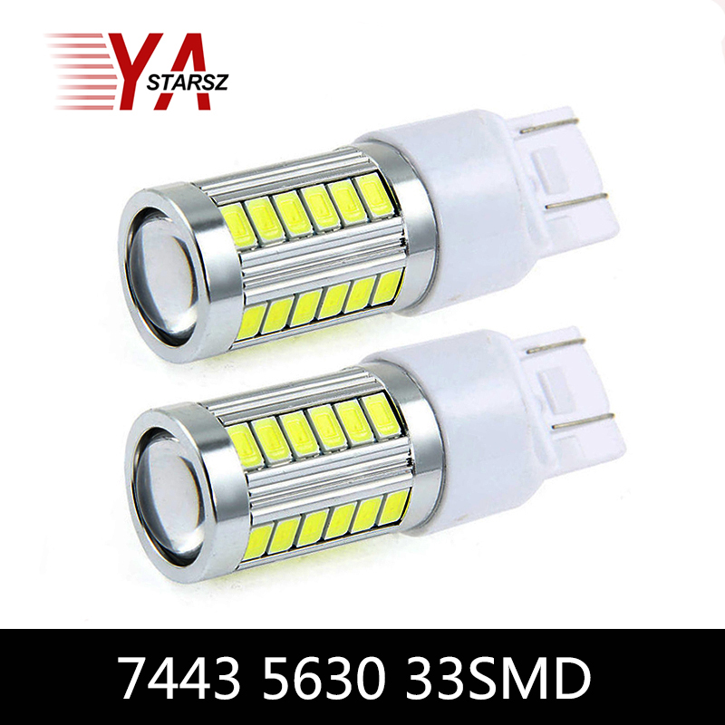 1x Car led T20 7443 W21/5W 33 LED 5630 5730 smd auto brake lights fog lamp reverse light car daytime running lights red white 1x car led t20 7443 w21 5w 33 led 5630 5730 smd auto brake lights fog lamp reverse light car daytime running lights red white