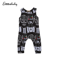 Cute Toddler Kids Baby Boy Star Wars Print Sleeveless Romper Jumpsuit Clothes Outfits Adorable Babies Boys Rompers