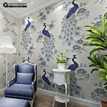 Great wall southeast asian chinese style non-woven peacock wallpaper mural,personality wall papers home decor for living room