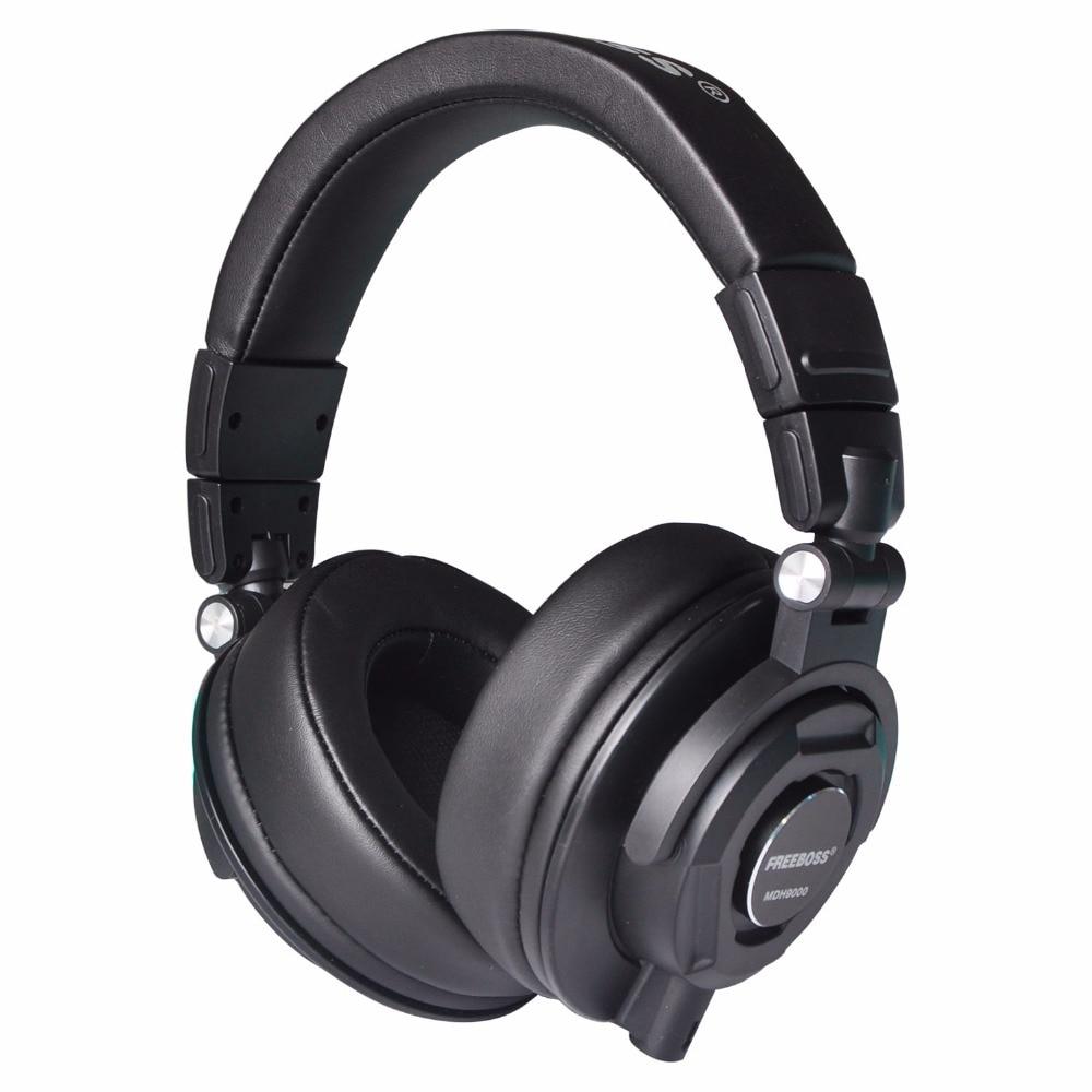 Mdh9000 Monitores auriculares con 50mm controladores de un solo lado desmontable cable 3.5mm enchufe 6.35mm adaptador Auriculares auriculares