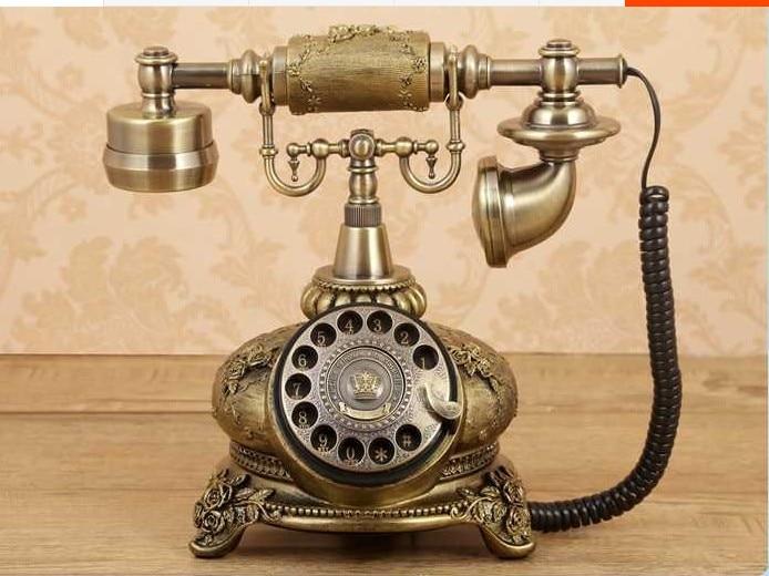 Bronze color Rotating disk high grade antique telephone Vintage antique Phone