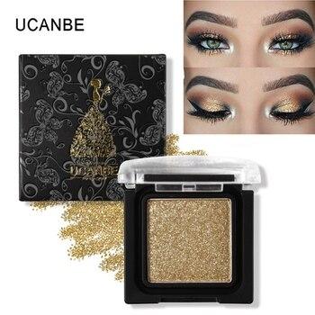 UCANBE Marca 8 Cores Metálica Única Sombra de Olho Paleta de Maquiagem Nude Pigmentadas Shimmer Matte Glitter Sombra Cosméticos Definir
