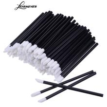 200pcs/lot Disposable Lip Brushes Lipstick Gloss Concealer Makeup Remover Cotton Wands Applicator Makeup Brushes Tool