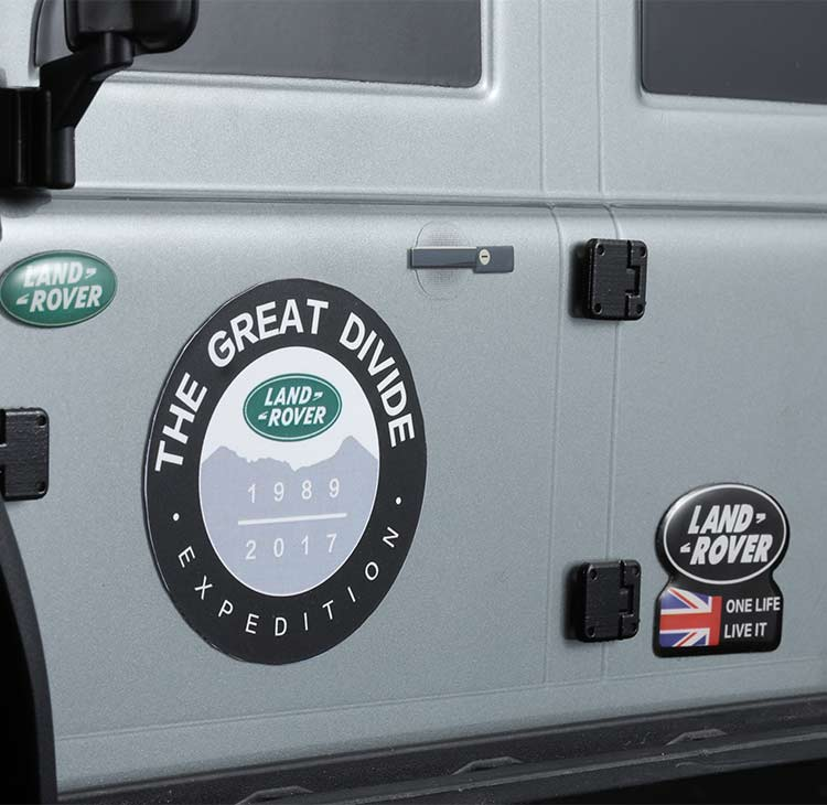 LAND ROVER & DEFENDER Stereo Crystal Logo Sticker For Traxxas TRX4 T4 RC4WD D90 D110 1/10 RC CAR PARTS NEW