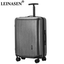 Popular fashion rolling luggage 20 26 inch brand carry on box men travel suitcase women trolley luggage aluminum frame suitcase(China)
