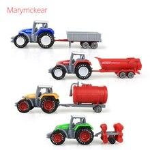 1個トラクターおもちゃの農民車ミニ車のモデルピックアップおもちゃのための4色トラクターjuguete取り外し可能なダイキャストトラックのおもちゃ