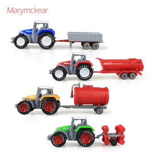 Image 1 - 1個トラクターおもちゃの農民車ミニ車のモデルピックアップおもちゃのための4色トラクターjuguete取り外し可能なダイキャストトラックのおもちゃ
